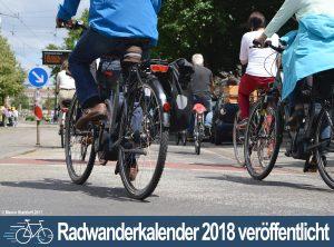 Radwanderkalender für 2018 veröffentlicht
